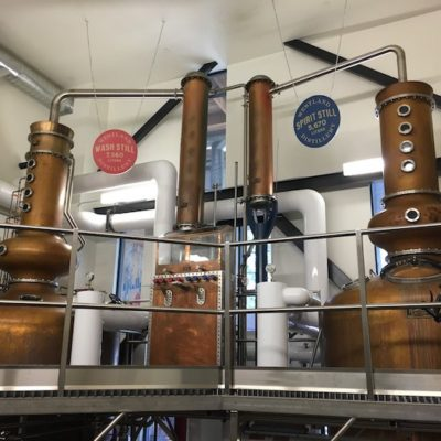 Westland Distillery - 1200 and 2000 Gallon Copper Batch Still System (photo from The Whiskey Wash) - Seattle, WA