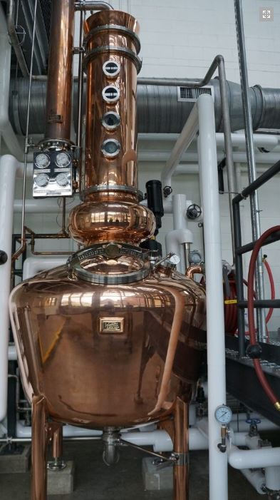 Sagamore Whiskey - 250 Gallon Copper Batch Still System, Opt 3 - Brooklandville, MD