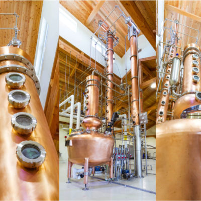 "Authentic Seacoast - 250 Gallon Copper Batch Still System, 12"" Copper Beer Still, 21 Tray Vodka Still - Guysborough, Nova Scotia, CA"