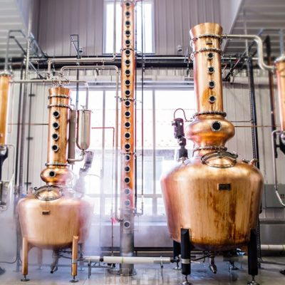 Nauti Spirits - Cape May Distillery & Farm - 750 Gallon and a 250 Gallon Copper Batch Still System w/Vodka Column - Arnold, MD (photo: Distillery Trail)