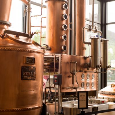 Photo by Glen Bowling - Roamilicious.com - Sugarlands Distilling Company - 250 and 750 Gallon Copper Moonshine Still - Gatlinburg, TN