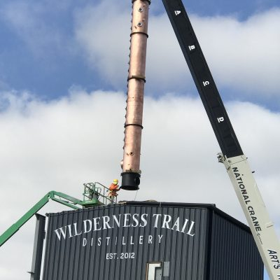 "Wilderness Trail Distillery - Installation of 36"" Continuous Beer Still System -Danville, KY"