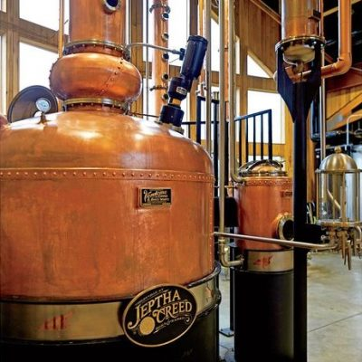 "Jeptha Creed - 12"" Continuous Beer Still System, 500 Gallon Batch Still System, 250 Gallon Vodka System - Shelbyville, KY (Photo: Sanchez, Hector)"