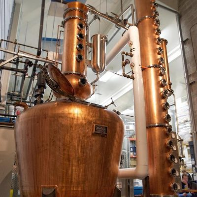 Compass Distillers - 500 Gallon Copper Batch System with Copper Vodka Column - Halifax, NS, Canada