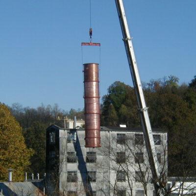 """Jack Daniel's - 76"""" Copper Beer Still Installation - Lynchburg, TN"""