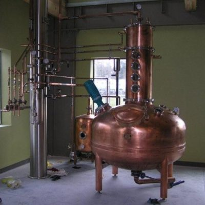 "Free Range Distilling Company - 150 Gallon Copper Pot Still and a 12-3/4"" Stainless Steel Packed Column - Brainbridge Island, WA"