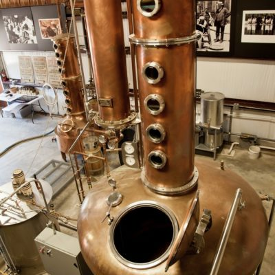 Garrison Brothers Distillery - (2) 500 Gallon and (1) 100 Gallon Copper Batch Still Systems - Hye, TX