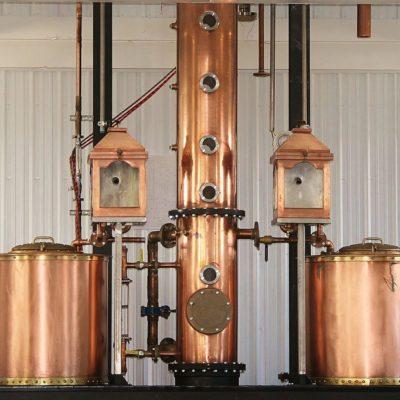 """Black Dirt Distilling - 18"""" Diameter Copper Beer Still - Pine Island, NY"""