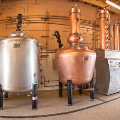 Ascendant Spirits - 500 Gallon Copper Batch Still System - Buellton, CA
