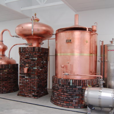 Prichards' Distillery - 250 Gallon and 400 Gallon Alembic Copper Brandy System - Kelso, TN