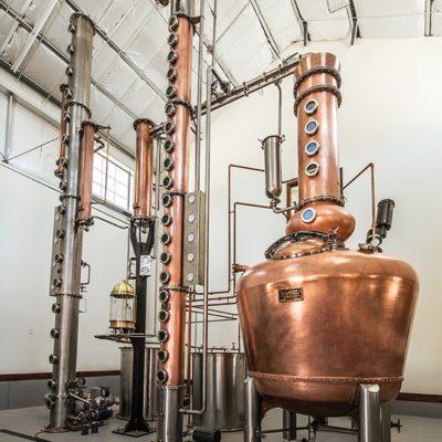 "Churchill Vineyards - 500 Gallon Copper Batch Still System, 12"" Stainless Steel Beer Still System, and a Copper Vodka Column - Fallon, NV"
