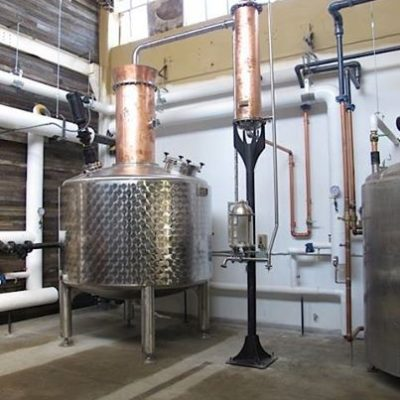 Iron Smoke Whiskey - 1000 Gallon Copper and Stainless Steel Wash Still - Fairport, NY