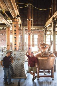 Photo by Alex Boerner At Durham's Two Doors Distilling, Sean Stark, left, and Tyler Huntington are among those who hope shifting state laws will boost North Carolina's craft distillery scene.