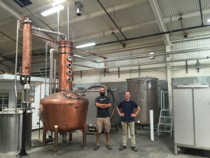 Daniel Wright (left) and Earl Brown in their West Oakland facility. -SARA HARE