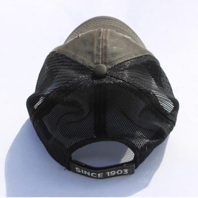 Vendome Brown Washed Black Mesh Hat