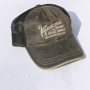 Vendome Brown Washed Black Mesh Hat
